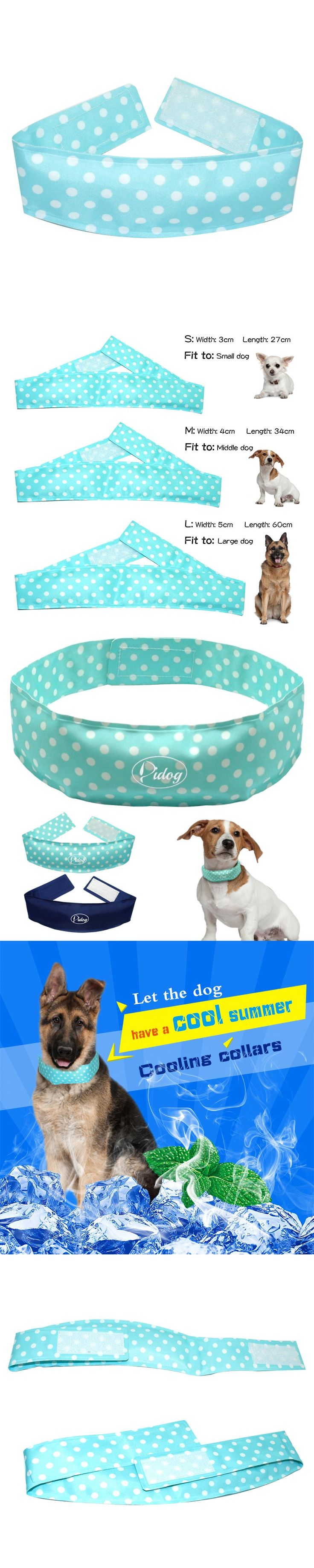 Didog  Cooling Dog Collar With Cute Polka Dot Collars For Pet Summer Cool Neck Collar 3 Size XS S M L