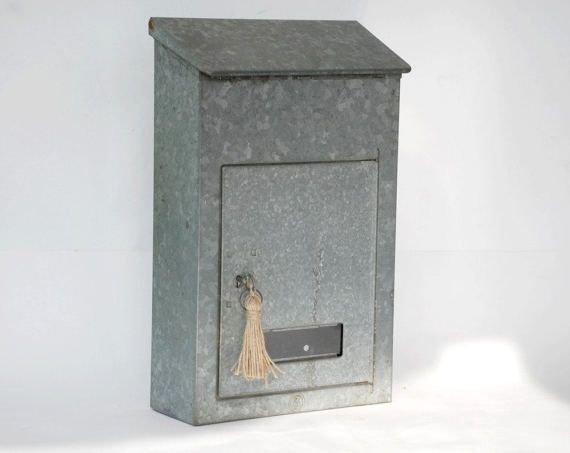 Metal mailbox galvanized French locking by FrenchTouchBoutique