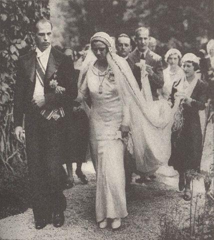 Princess Ileana of Romania & Archduke Anton of Austria :: July 26, 1931
