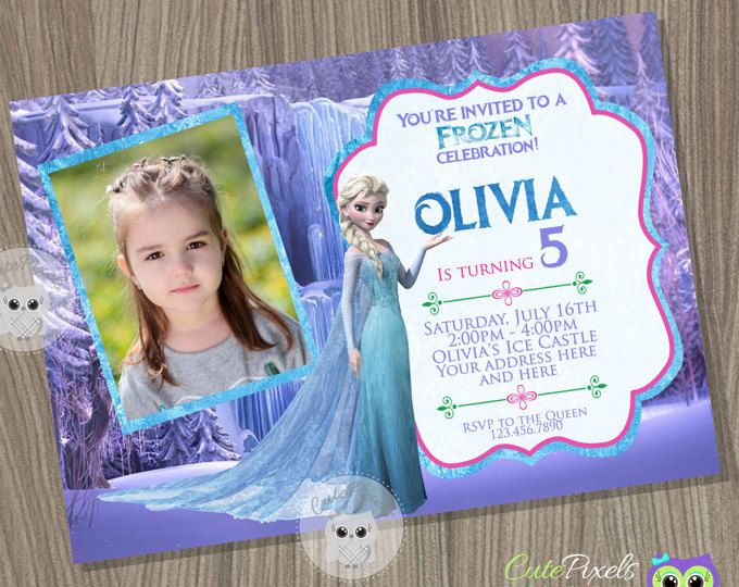 Frozen Invitation, Disney Frozen, Elsa Invitation, disney Frozen Invitation, Frozen Birthday, Frozen Party, Frozen Birthday Invitation