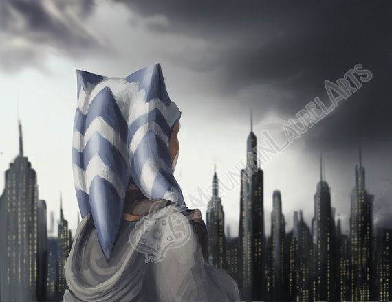 Ahsoka  Oncoming Storm  Star Wars Clone Wars Fan by mtnlaurelarts