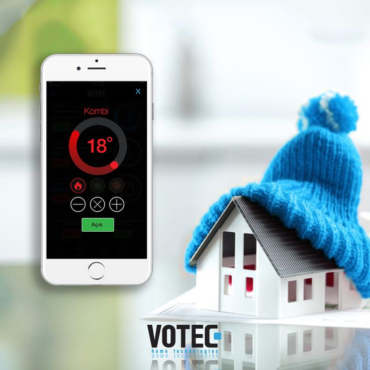 Votec Akıllı Ev Sistemleri ile kombinizi tek tuşla istediğiniz sıcaklığa göre ayarlayabilirsiniz.