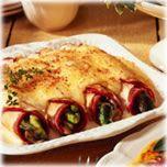 Crêpes aux asperges, au jambon et au fromage Le Douanier