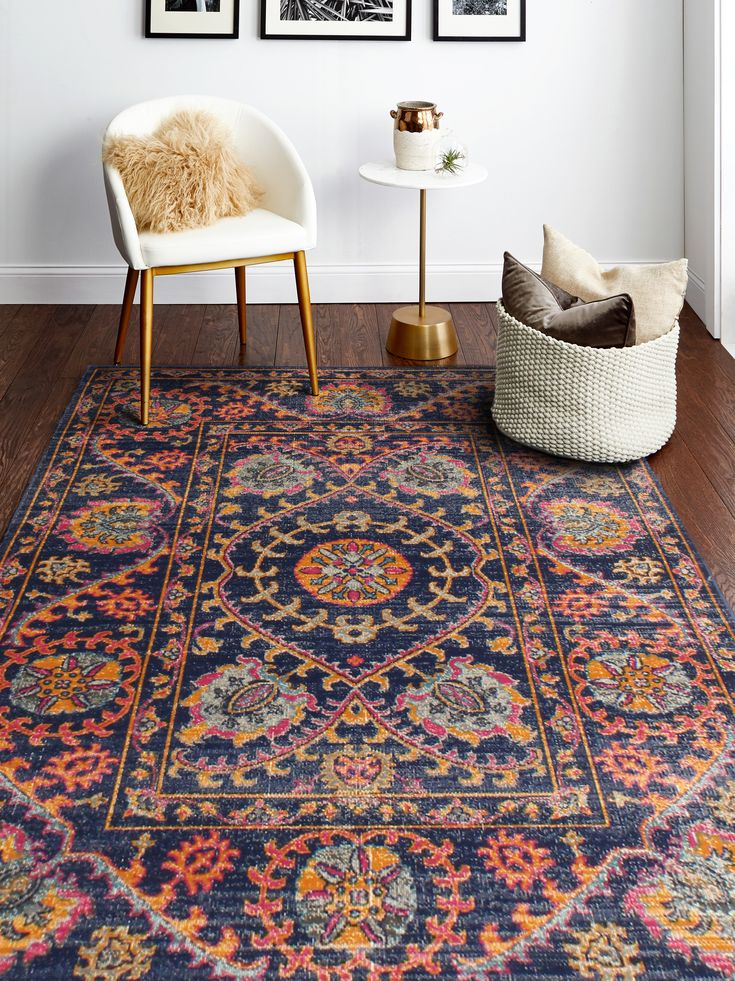 Living Room Layered Rugs