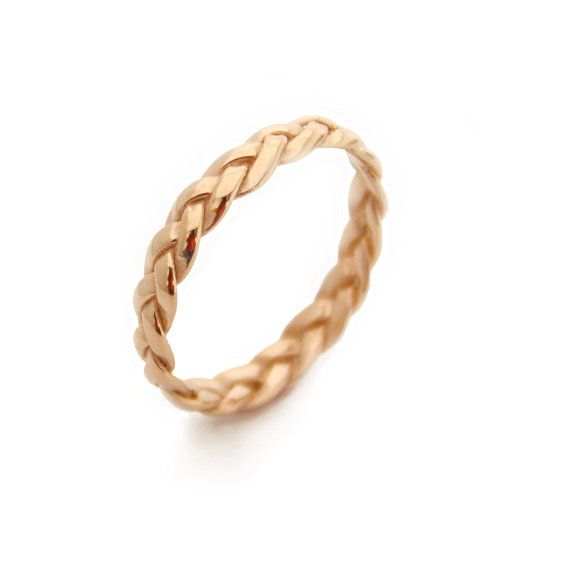 Braided Yellow Gold Plated Ring Gold Rings Braided Ring by MayaMor