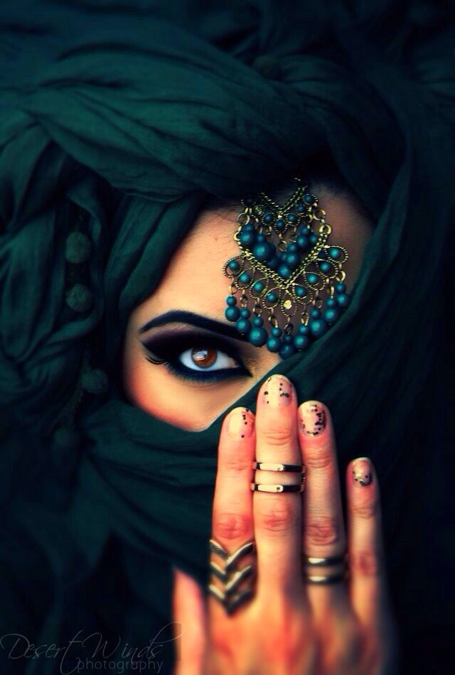 Can't you tell, the eyes unlock the hearts unspoken words, and the veil covers what the eyes can't control.: