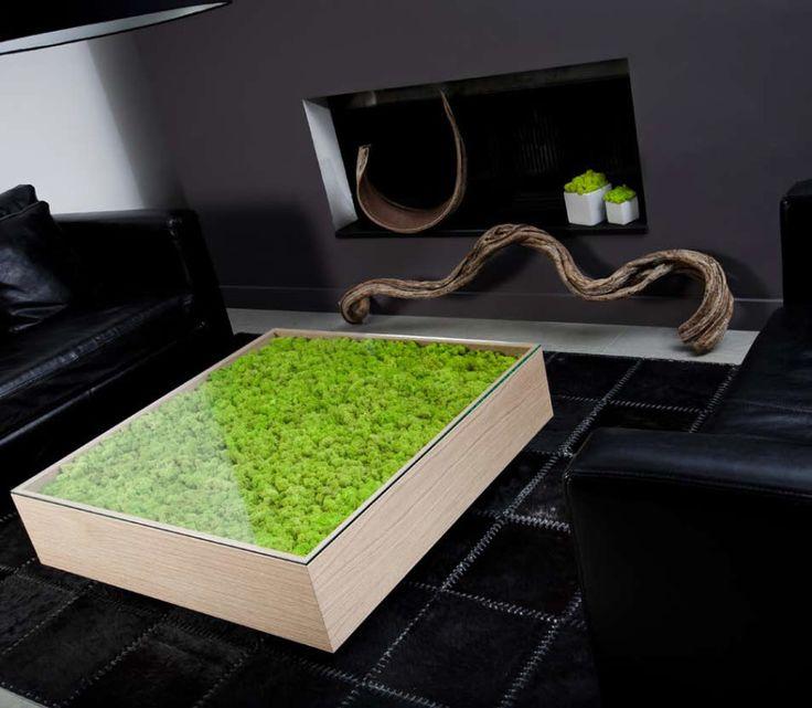 Tavolino Flat Wood | Piante stabilizzate