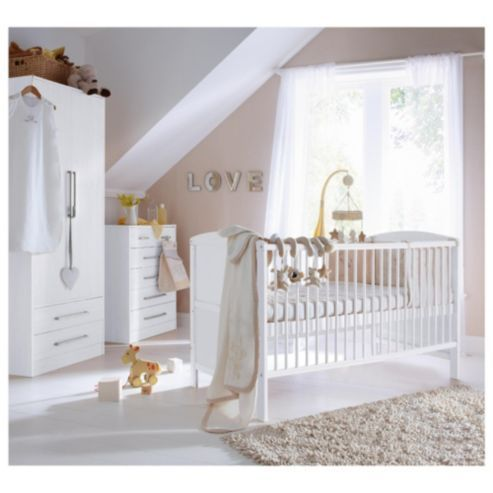 If You Want A Modern Nursery Co Ordinate The Wardrobe, Cot And Chest Of