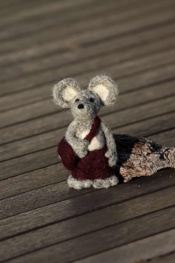 Felted mouse mouse gift wool felted mouse mouse toy by KaneToys