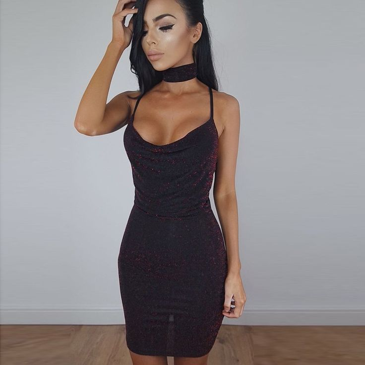 New Hot bodycon dress 2017 Women Summer Sexy Sling V-neck collar Neck Slim Solid Bodycon Party Dresses cheap clothes