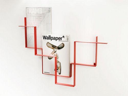 Modern Wall-Mounted Magazine Racks