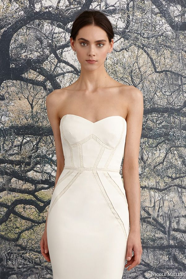 91 best j mendel collections images on pinterest for Nicole miller beach wedding dress