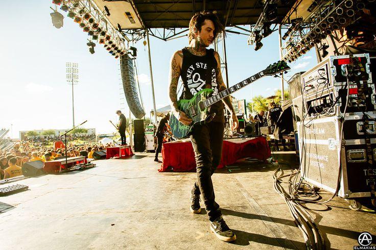 Tony Perry of Pierce The Veil in Tucson, AZ. full set- http://adamelmakias.com/work/the-house-party-tour-photos-part-2/
