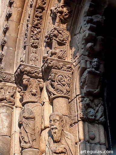 Puerta norte de la Catedral de Orense. Galicia