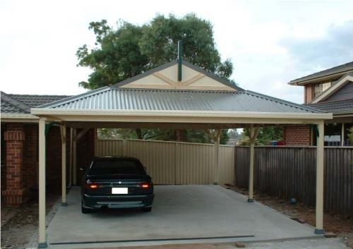 Freestanding Dutch Gable Roof Carport With Corrugated