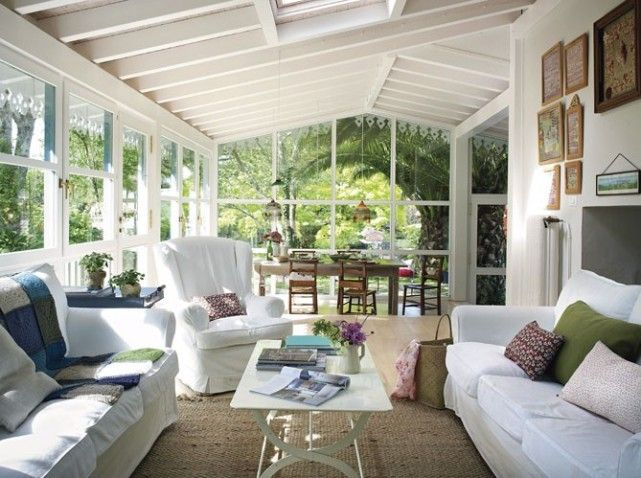 Un s jour dans la veranda maison de reve pinterest for Amenagement interieur veranda