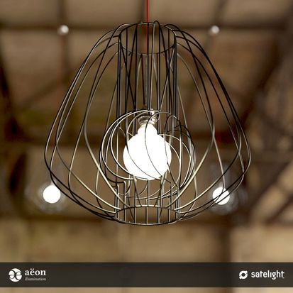 Filament Pendant Lighting Collection - Aëon Illumination - Interior wire frame lights