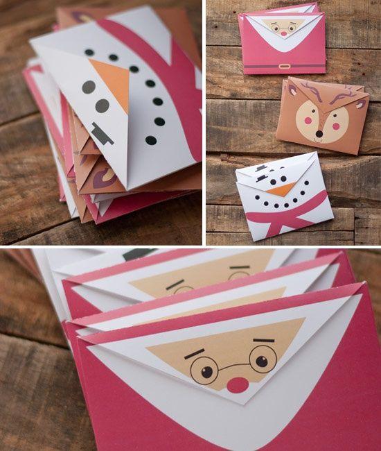 Новогодние конверты / Бумага и карандаши (скрапбукинг, оригами, и т.д.)…