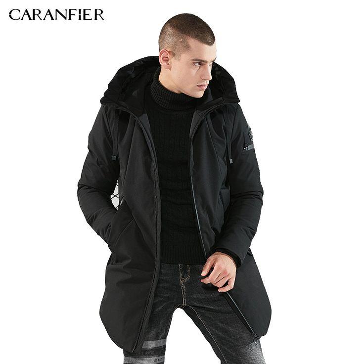 CARANFIER Brand Parka Men Winter Jacket Men Warm Thick Cotton Padded Jacket Mens Parka Coat Male. Click visit to buy