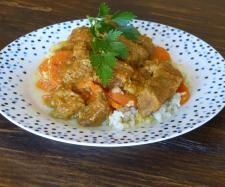 Recipe Creamy beef curry with cauliflower rice (kid friendly) - Recipe of category Main dishes - meat