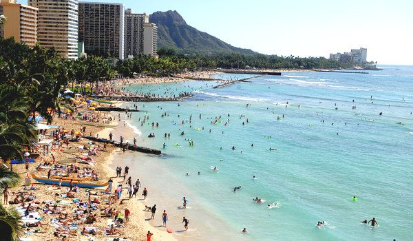 Little by little, Hawaii's iconic beaches are disappearing.  Most beaches on the state's three largest islands are eroding, and the erosion is likely to accelerate as sea levels rise, the United States Geological Survey is reporting.