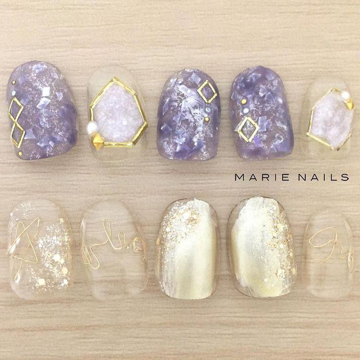 #マリーネイルズ #ネイル #kawaii #kyoto #ジェルネイル #ネイルアート #swag #marienails #ネイルデザイン #naildesigns #trend #nail #toocute #pretty #nails #ファッション #naildesign #ネイルサロン #beautiful #nailart #tokyo #fashion #ootd #nailist #ネイリスト #gelnails #gold #purple #ショートネイル #highfashion