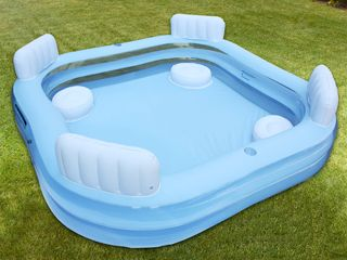 CARREFOUR. Piscina Familiar Hinchable 4 Asientos 229x229x41/62 cm