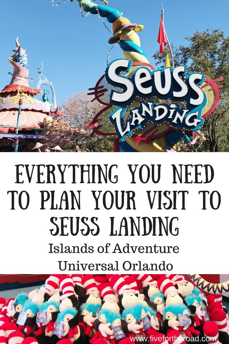 Seuss Landing inside Islands of Adventure at Universal Orlando Resort. #visitorlando #Orlando #universalorlando #familytravel