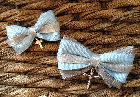 Modern Bow Lambada Set for Greek Orthodox Baptism by KoulEvents