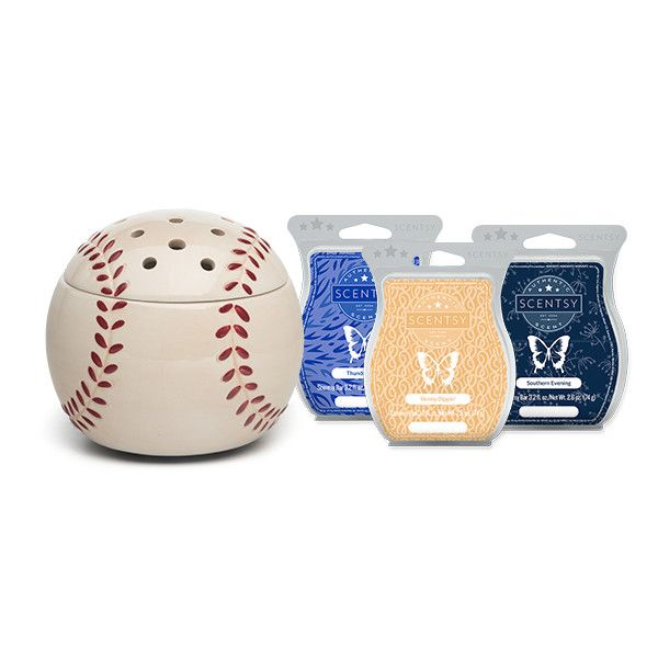 Father's Day - Home Run! Bundle  - Home Run! Warmer  - Southern Evening Scentsy Bar  - Thunderstorm Scentsy Bar  - Skinny Dippin' Scentsy Bar    ONLY WHILE SUPPLIES LAST!