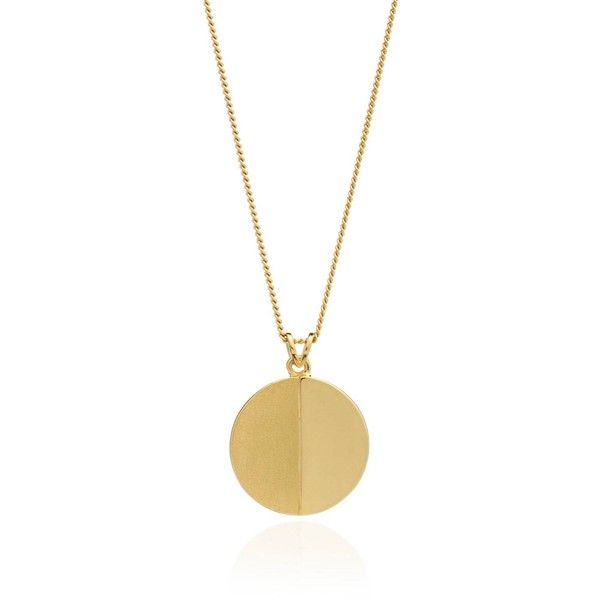 Rachel Jackson London - Lunar Moon Necklace Gold ($170) ❤ liked on Polyvore featuring jewelry, necklaces, yellow gold necklace, charm necklace, layered necklace, gold chain pendant and yellow gold pendant necklace