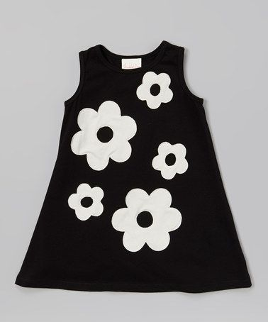 Loving this Black & Ivory Audrey Swing Dress - Toddler & Girls on #zulily! #zulilyfinds