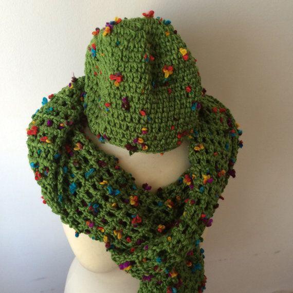 Cachecol de crochet feito à mão lenço artesanais  by LaTricot