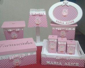 Kit Higiene Coruja para bebê