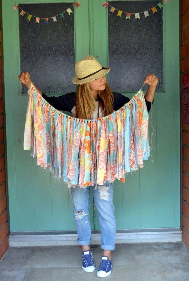 DIY Fabric Garland using Michael Miller fabrics