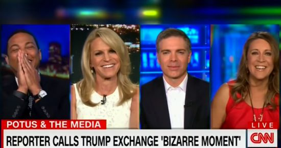 CNN commentator busts up panel: If Trump said Irish reporter 'had a nice piece' that'd be a story!