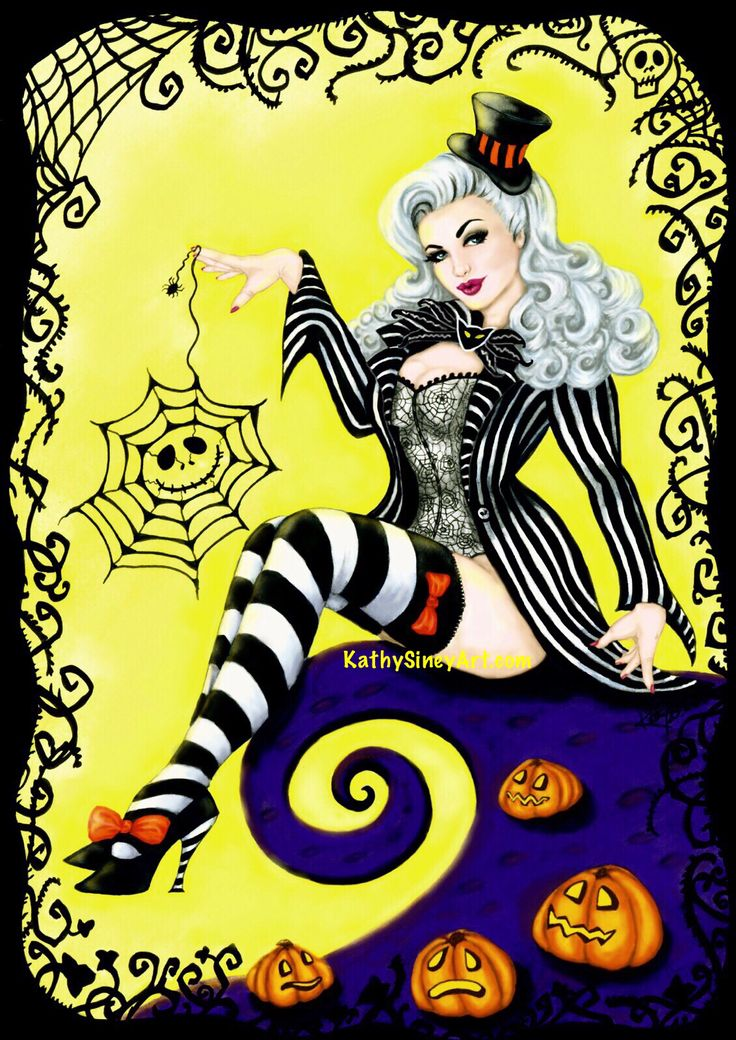My Halloween 2015 artwork - Lady Skellington, a tribute to Tim Burton and Nightmare Before Christmas