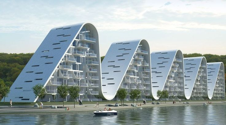 The Wave, a Residential project by Henning Larsen Architects in Vejle, Denmark