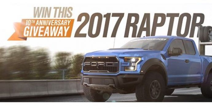 Win a 2017 Ford Raptor & 2015 Ford Mustang GT