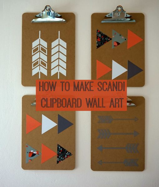 DIY Home: Decorative Clipboard Wall Art with the Cricut Explore | Love Chic Living