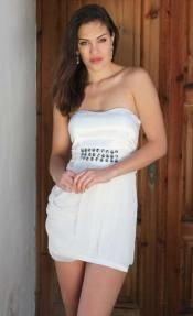 Elegant Draped White Dress