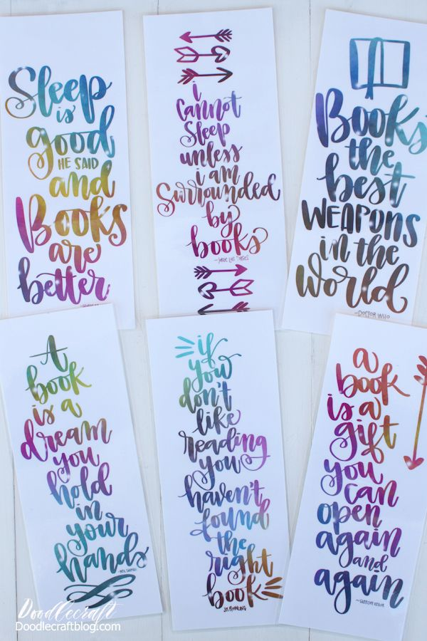 Calligraphy Book Lover Quotes Free Bookmark Printable Book Worm