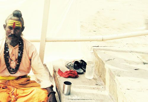 Sadhu at the Ganges