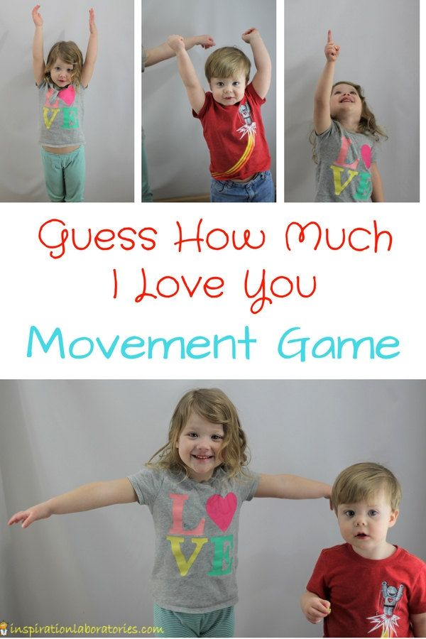 Play a Guess How Much I Love You Movement Game inspired by the book by Sam McBratney