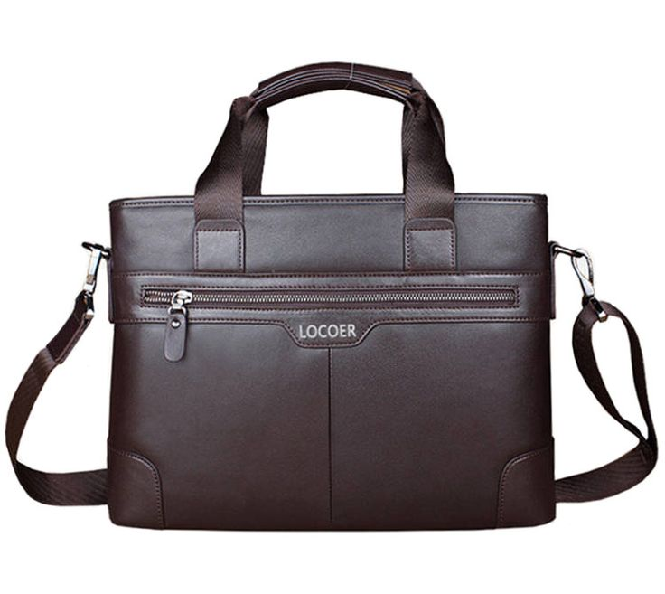 Business Casual Men's Handbag Men Briefcase File Package Black PU Leather Canvas Stripe Shoulder Laptop Bags Male Bolsa Mochila //Price: $US $18.79 & FREE Shipping //     #beauty