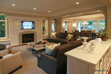 2013 Dream Home Transitional Living Room Great Rooms