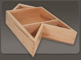 Try An Inside Corner Solid Wood Dovetailed Drawer Box In A Lazy Susan  Corner Cabinet.