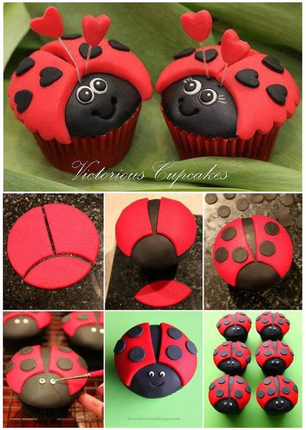 How to DIY Cute Ladybug Cupcakes | iCreativeIdeas.com Like Us on Facebook == https://www.facebook.com/icreativeideas