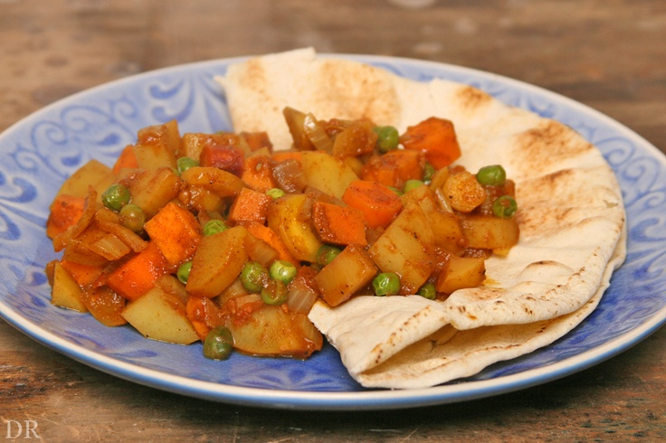 Plantaardigheidjes: Vegan MoFo #29: Indiase (zoete) aardappels, wortel en erwten