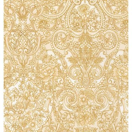 Robert Kaufman Fabrics: APTM-15408-14 NATURAL by Peggy Toole from Tuscan Wildflower 3